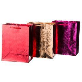 Комплект бумажных пакетов из 12 шт 23*18*10 см.3 вида-512-538