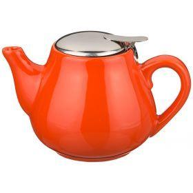 Заварочный чайник с металл крышкой и  фильтром 650 мл.-444-101
