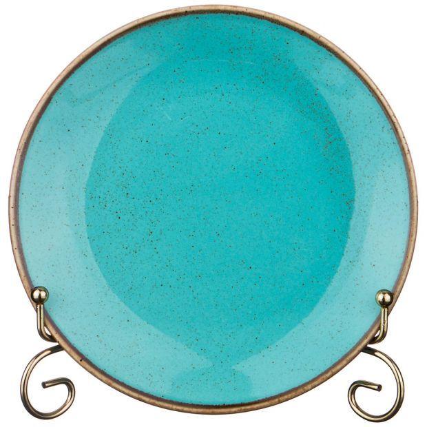 Тарелка seasons 18 см цвет бирюзовый (кор=12шт.)-664-171