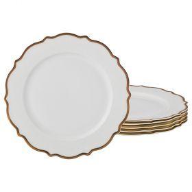 Набор из 6-ти подстановочных тарелок диаметр=26,5 см (кор=4набор.)-115-309