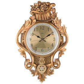 Часы настенные кварцевые 40*9*63 см (кор=5шт.) циферблат 23 см-204-247