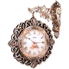 Часы настенные кварцевые с двойным циферблатом 53*14*69 см. диаметр циферблата=25 см.-204-200
