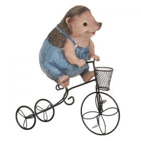 Кашпо ежик на велосипеде 27*14*31 см.