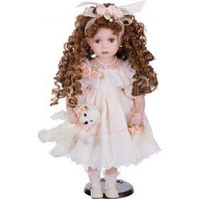 Кукла фарфоровая высота=48 см.-346-217