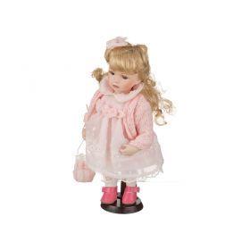 Фарфоровая кукла с мягконабивным туловищем высота=30 см.-485-220