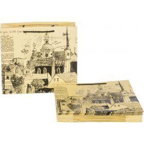 Комплект бумажных пакетов из 10 шт. 30*27*12 см.-521-076
