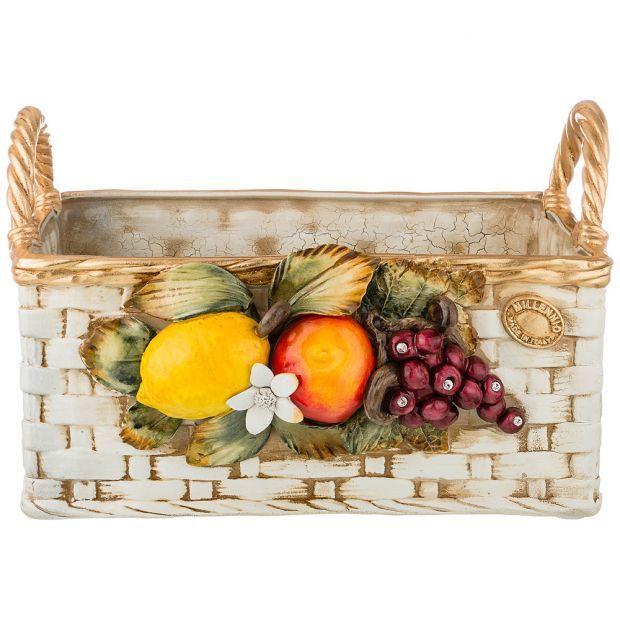 """Изделие художественно-декоративное """"корзинка с фруктами"""" высота 25 см-313-113"""