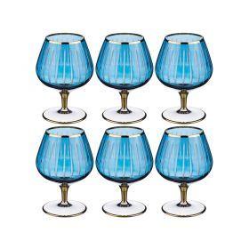Набор бокалов для вина из 6 шт. 350 мл. высота=14 см.-103-542