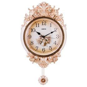 Часы настенные кварцевые с маятником 38,5*9,5*70 см. диаметр циферблата=31 см.-204-216