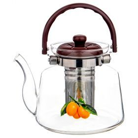 Заварочный чайник agness 1800 мл. с фильтром жаропрочное стекло (кор=24шт.)-891-029