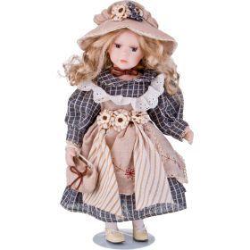 Кукла фарфоровая высота=40 см.-346-236