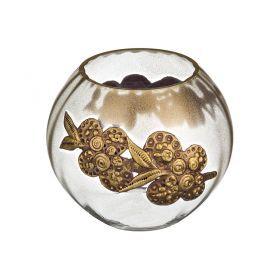 Ваза декоративная лилия лепка высота=15 см.