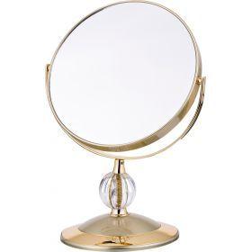 Зеркало настольное диаметр=18 см.высота=30 см.увеличение в 5 раз-416-086