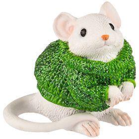 Фигурка мышка в свитере 7*3,5*5 см (мал=6шт./кор=120шт.)-117-313