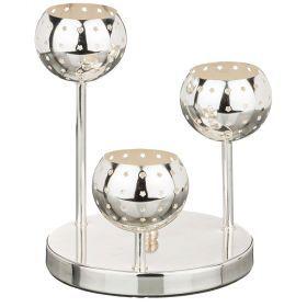 Подсвечник 3-х рожковый диаметр=18 см.высота=22 см.-39-407