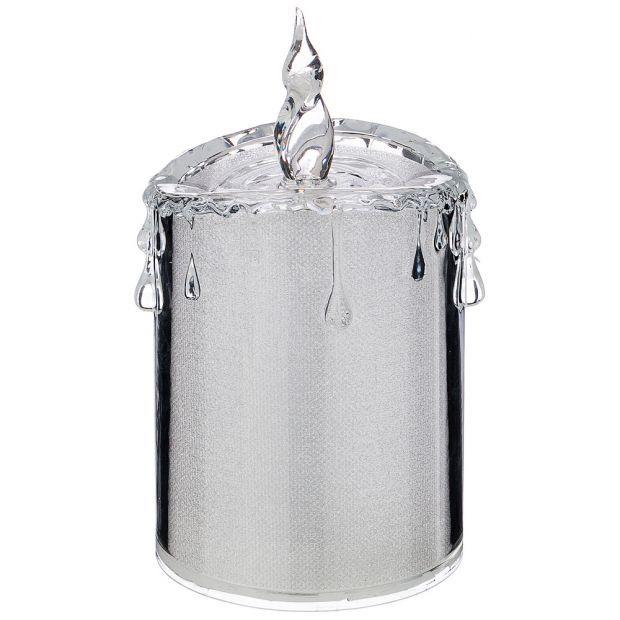 """Фигурка """"свеча декоративная"""" диаметр=7,5 см высота=14 см дизайн: горный хрусталь без упаковки мал=48-234-147"""