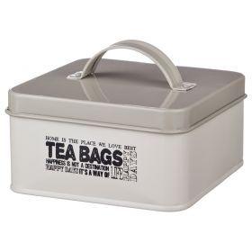 Банка для чайных пакетиков 14*14*7 см.-790-110