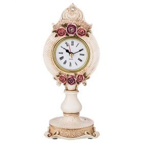 Часы настольные 24*10 см диаметр циферблата 6 см (кор=12шт.)-504-228
