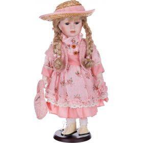 Кукла фарфоровая высота=42 см.-346-219