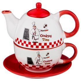 Набор 2 пр. чайник объем 330 мл и чашка объем 280 мл  коллекция