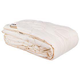 Одеяло овечья шерсть 200*220 см, верх:тик-100% хлопок, наполнитель: 80% овечья шерсть/20% силикон