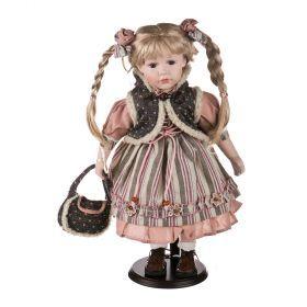 Кукла фарфоровая высота=42 см.(кор=6шт.)-346-149