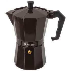 Кофеварка гейзерная, 300 мл на 6 чашек (кор=36шт.)-944-008