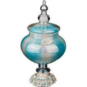 Декоративная чаша с крышкой высота=33 см.-316-1055