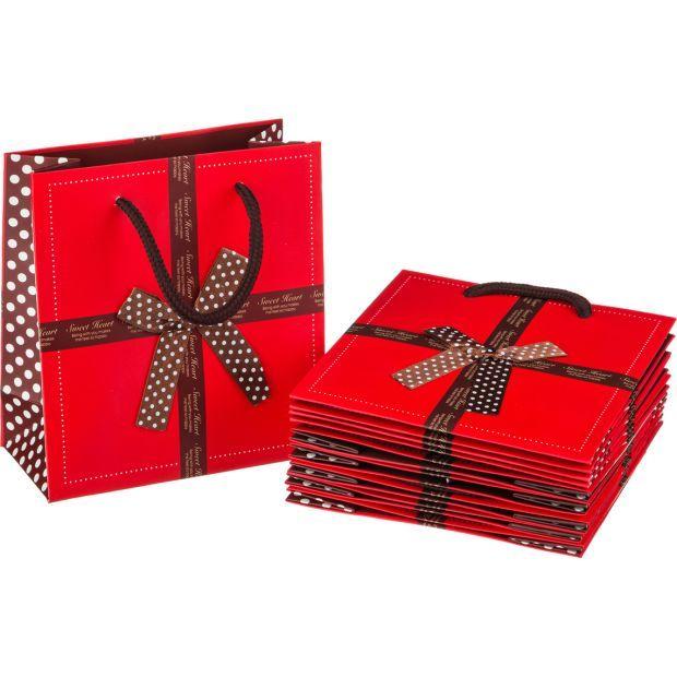 Комплект бумажных пакетов из 10 шт. 14*16*7 см-521-032