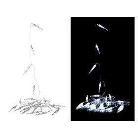 Электрогирлянда со светодиодами  220в 6 м 40 led   холодный белый-857-006