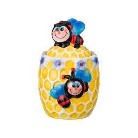 Банка для мёда с крышкой 400 мл.высота=16 см-490-009