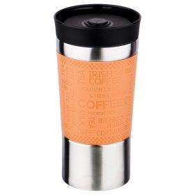 Термокружка с кнопкой-стопером, 380мл (кор=30шт.)-709-040