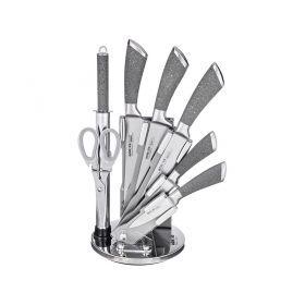 Набор ножей с силиконовыми ручками на пластиковой подставке, 8 пр.-911-509