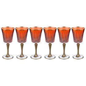 Набор бокалов для вина из 6 шт. 250 мл. высота=21 см.-103-533