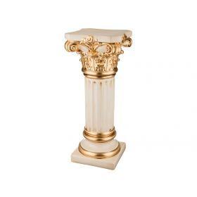 Колонна бежево-золотая 37*37 см.высота=90 см.