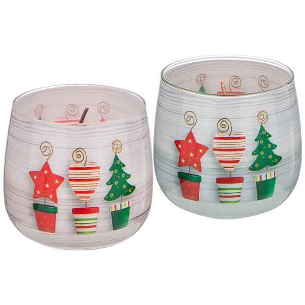 """Ароматическая свеча в стакане """"новогоднее настроение""""-602-094"""