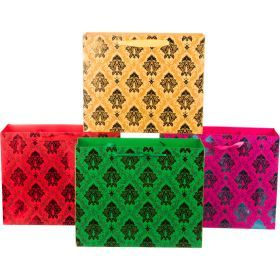 Комплект бумажных пакетов из 12 шт 26*32*11 см.4 вида-512-507