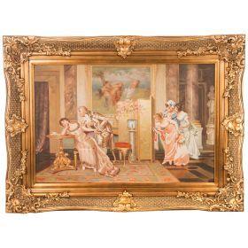 Картина масляная на холсте 89*59 см. багет 116*86 см.-107-1052