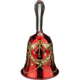 Декоративное изделие колокольчик цвет: красный 5*9,5 см.-862-054(Товар продается кратно  6шт.)