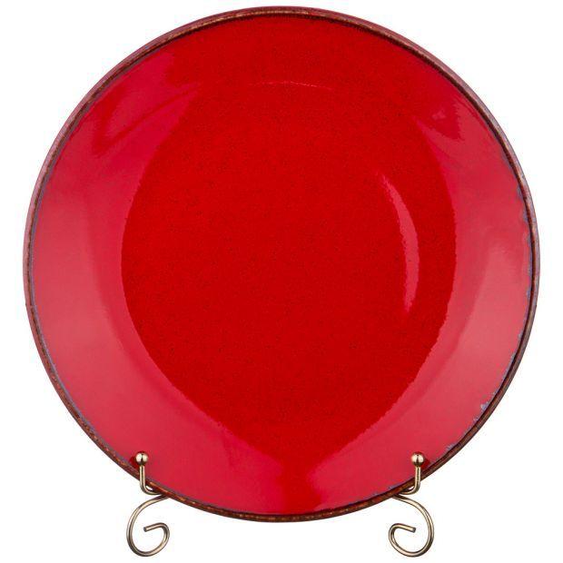 Тарелка seasons 28 см цвет красный (кор=12шт.)-664-184