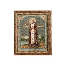 Гобеленовая икона  серафим саровский 28*33 см.