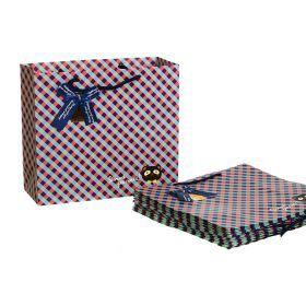Комплект бумажных пакетов из 10 шт. 30*27*12 см.-521-067