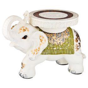 Подставка-слон белый