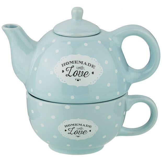 Набор 2 пр. чайник объем 330 мл и чашка объем 280 мл  16*10*14,5 см-155-392