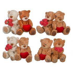Набор игрушек из 2 шт.в подарочной коробке высота=10 см.13*13*8 см. 4 вида (кор=109наб