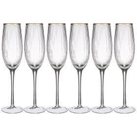 Набор бокалов для шампанского из 6-ти шт.