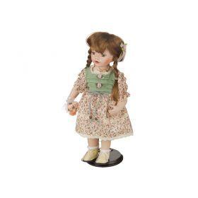 Фарфоровая кукла с мягконабивным туловищем высота=38 см-485-085