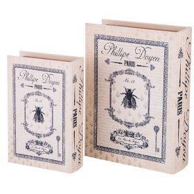 Набор шкатулок-книг из 2-х шт. коллекция