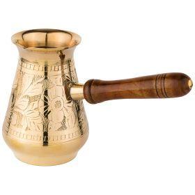 Турка резная 370мл. латунь (кор=48шт.)-733-114
