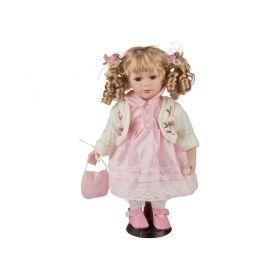 Фарфоровая кукла с мягконабивным туловищем высота=31 см.-485-061